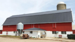 Red Barn With Metal Roof