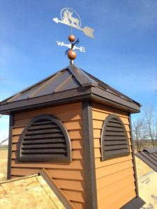 Directional Tower with Metal Roof
